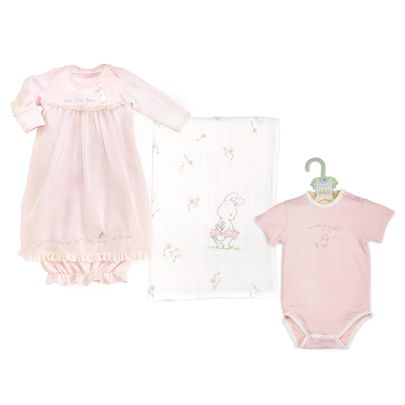 Baby Girl Basics - Newborn Cuddle Bundle-Gift Set-SKU: 101129 - Bunnies By The Bay