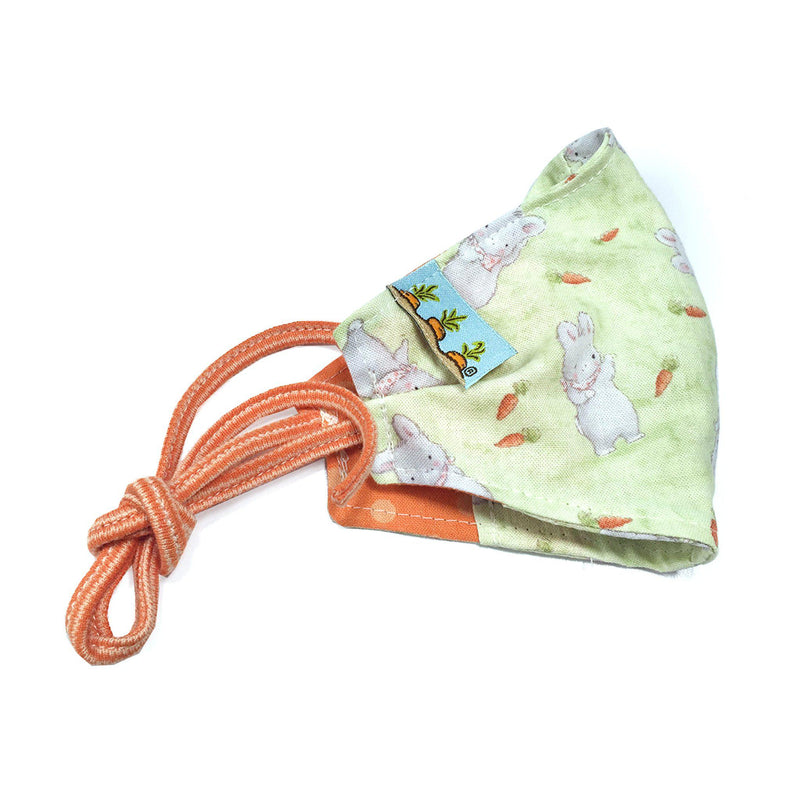 Child Cloth Face Mask - Bloom Bunny with Carrots-Face Mask-SKU: - Bunnies By The Bay