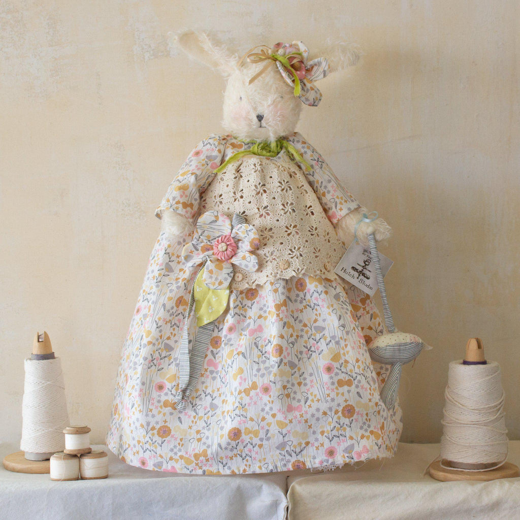 Hutch Studio - Miss Mustard Seed - One Of A Kind Bunny-HutchStudio Original-Bunnies By The Bay