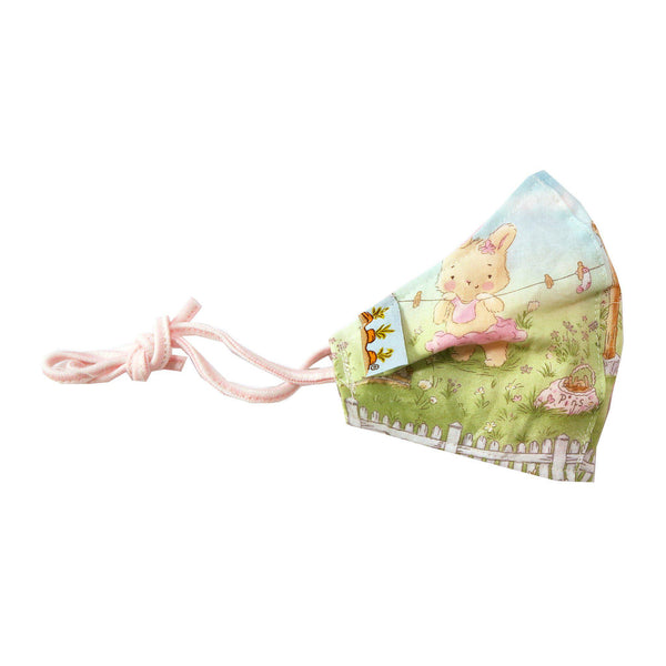 Child Cloth Face Mask - Garden Bunnies-Face Mask-SKU: 101154 - Bunnies By The Bay