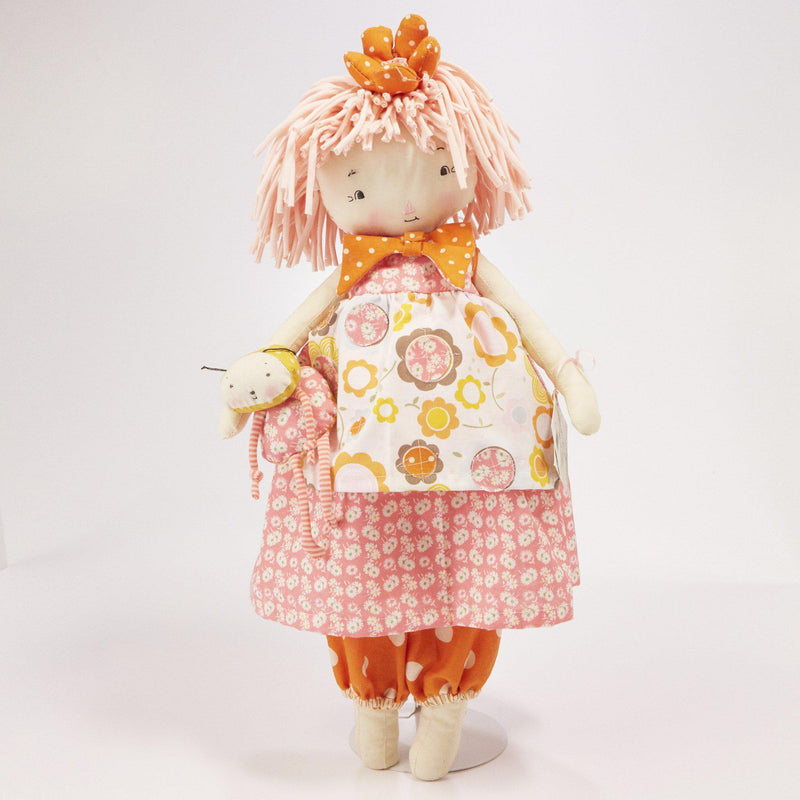 Hutch Studio - Greta Gerberera - Make and Mend One of a Kind Doll-HutchStudio Original-SKU: HS00150 - Bunnies By The Bay