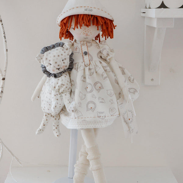 Hutch Studio Original - Lottie & Lionel - One of A Kind Doll-HutchStudio Original-SKU: HS21-45 - Bunnies By The Bay