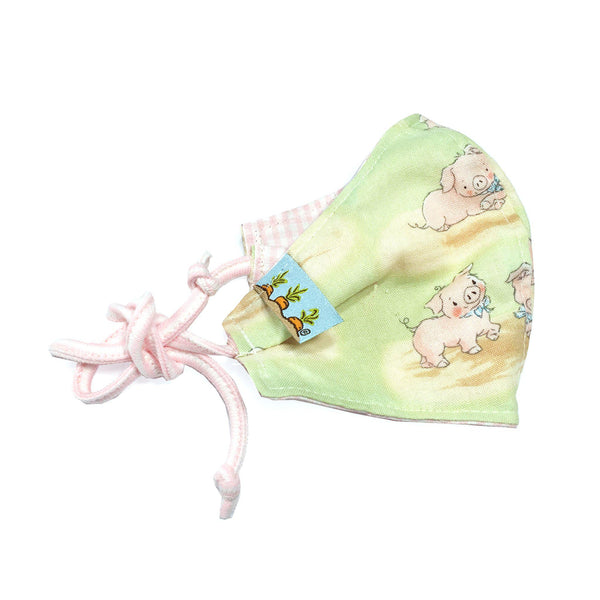 Child Cloth Face Mask - Hammie the Pig-Face Mask-SKU: - Bunnies By The Bay