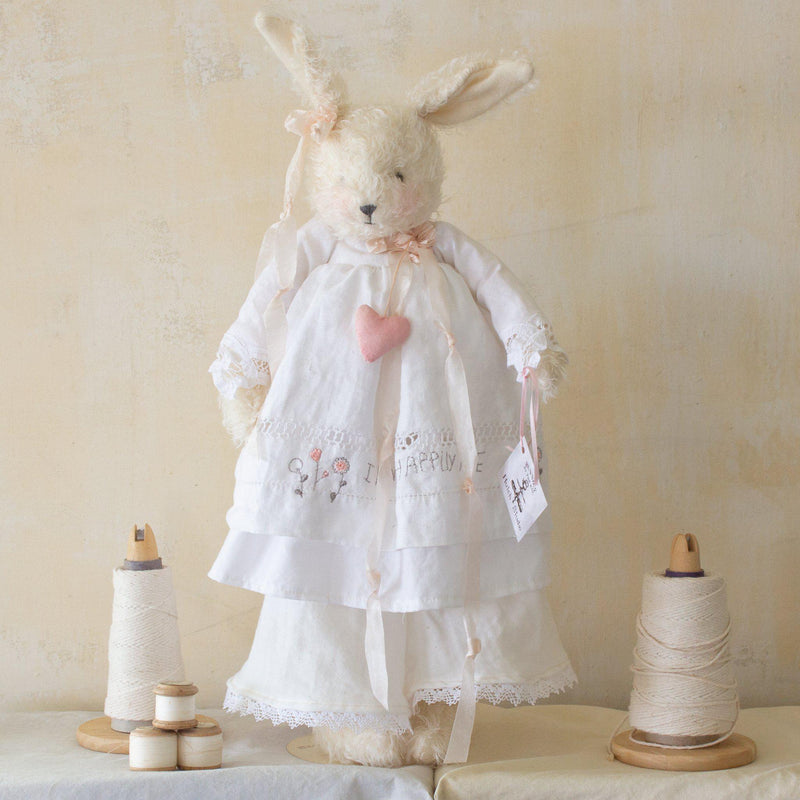 Hutch Studio - Lacey Linen - One Of A Kind Bunny-HutchStudio Original-Bunnies By The Bay
