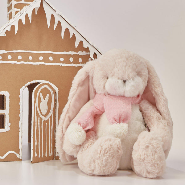 RETIRED - Limited Edition - Little Nibble Pink Holiday Bunny-Holiday Plush-SKU: - Bunnies By The Bay