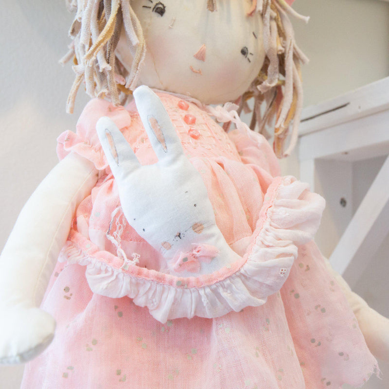 Hutch Studio Original - Pip Peony - One of a Kind Doll-HutchStudio Original-SKU: - Bunnies By The Bay