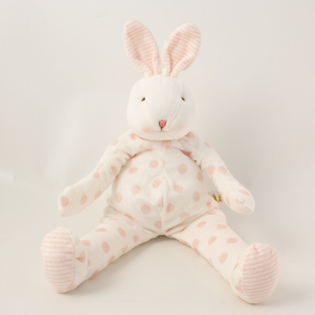 Image of Polka Dots Bunny Pink - Carrots® Collection-Stuffed Bunny-Bunnies By the Bay-bbtbay