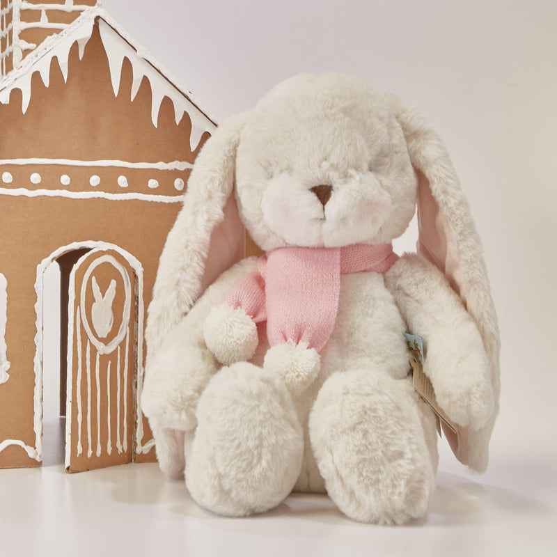 "Limited Edition - Holiday Big Nibble Cream 20"" Bunny-Holiday Plush-SKU: 497114 - Bunnies By The Bay"