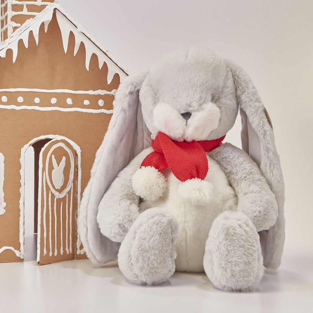 "Limited Edition - Holiday Sweet Nibble Gray 16"" Bunny"