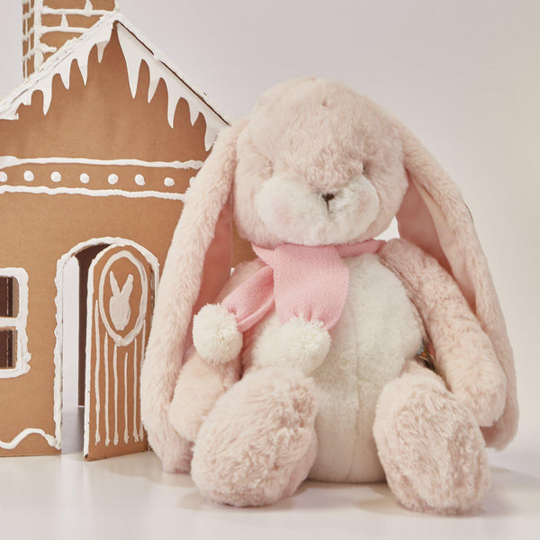 "RETIRED - Limited Edition - Holiday Sweet Nibble Pink 16"" Bunny-Holiday Plush-SKU: - Bunnies By The Bay"