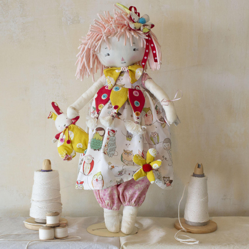 Hutch Studio -Tessie and Bundoll - Make and Mend One of a Kind Doll-HutchStudio Original-Bunnies By The Bay