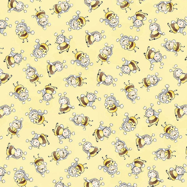 Image of Fabric - Bloom and Little Star Collection - Bunny Bees - 1/4 yard-Fabric-Bunnies By The Bay-bbtbay