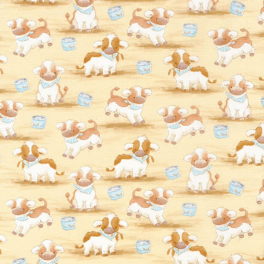 Image of Fabric - Good Friends Farm Collection - Farm Cows - 1/4 yard-Fabric-Bunnies By The Bay-bbtbay