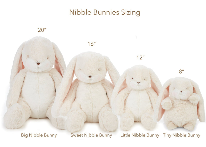 "Bunny Plush Stuffed Animal - Little Nibble 12"" Bunny - Cream-Stuffed Bunny-SKU: 100419 - Bunnies By The Bay"