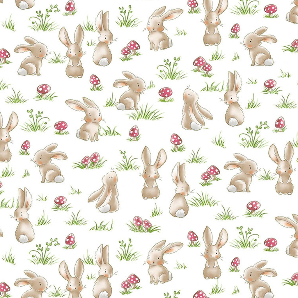 Fabric - Camp Cricket Collection - Curious Bunnies - 1/4 yard