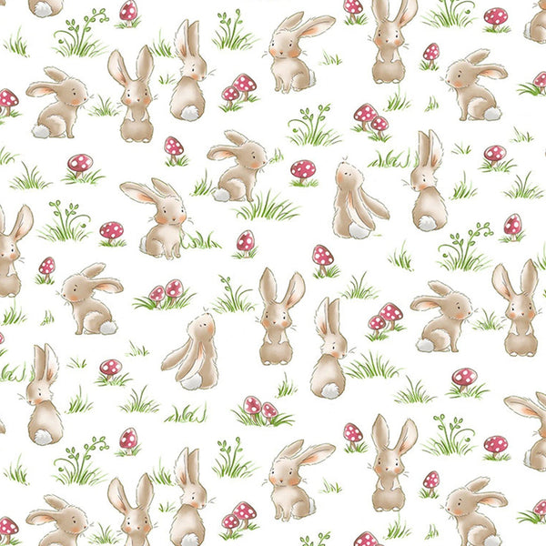 Image of Fabric - Camp Cricket Collection - Curious Bunnies - 1/4 yard-Fabric-Bunnies By The Bay-bbtbay