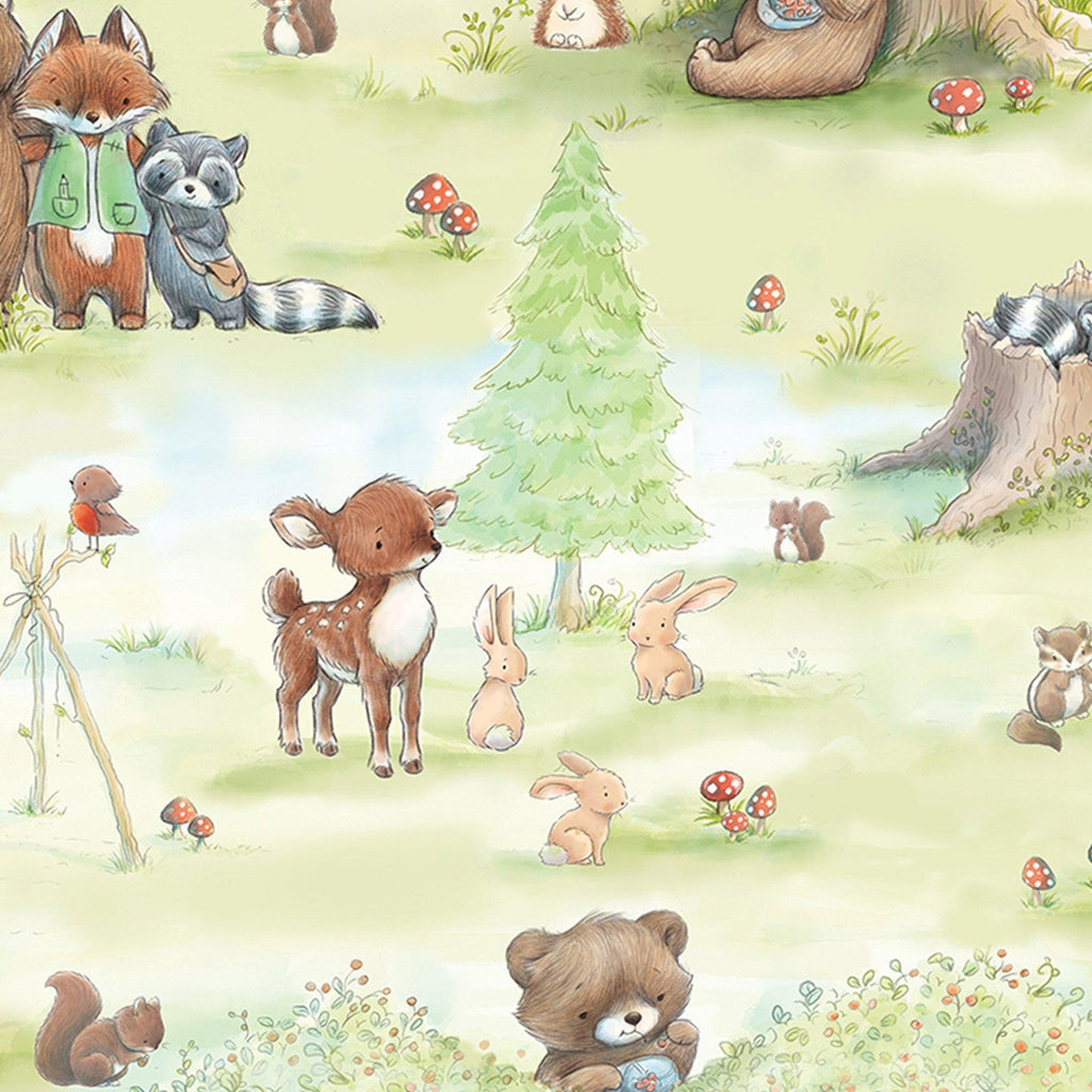 Image of Fabric - Camp Cricket Forest Friends Activities - 1/4 yard-Bunnies By The Bay-bbtbay