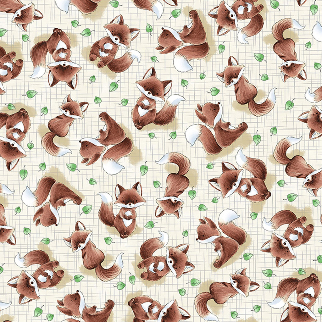 Fabric - Camp Cricket Collection - Tossed Fox - 1/4 yard
