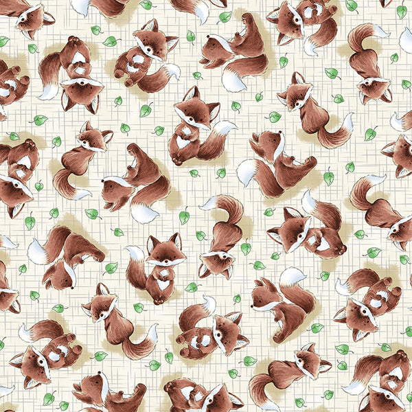 Image of Fabric - Camp Cricket Collection - Tossed Fox - 1/4 yard-Fabric-Bunnies By The Bay-bbtbay