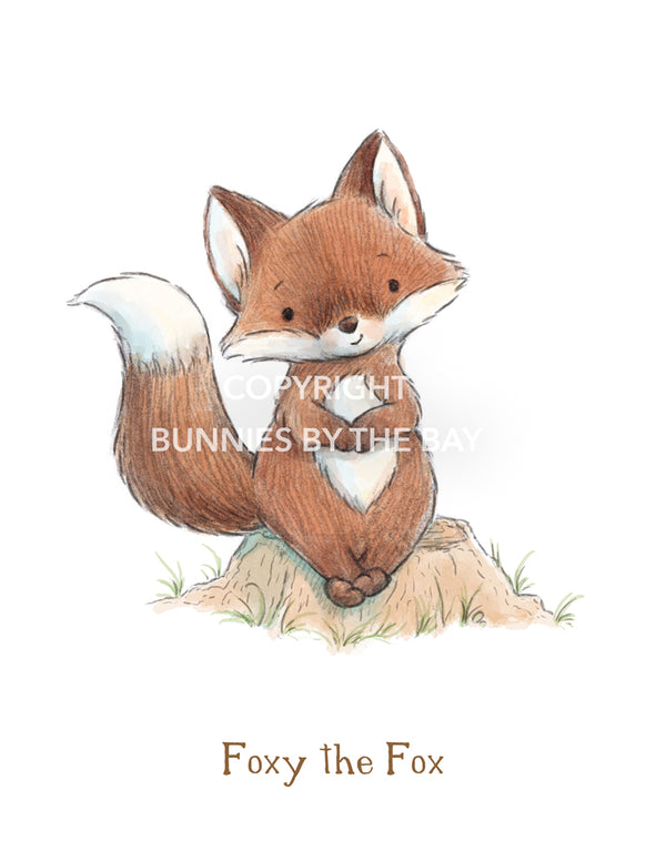 Image of Digital Art: Foxy the Fox-Digital Art-Bunnies By The Bay-bbtbay