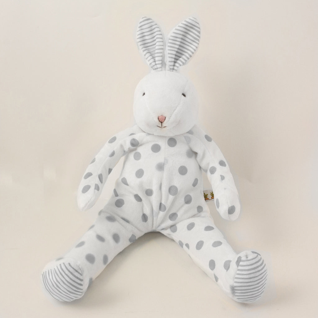 Polka dots Bunny Gray - Carrots® Collection a Stuffed Bunny from Bunnies By The Bay: , , , SKU: 100883, Barcode: 843584017503