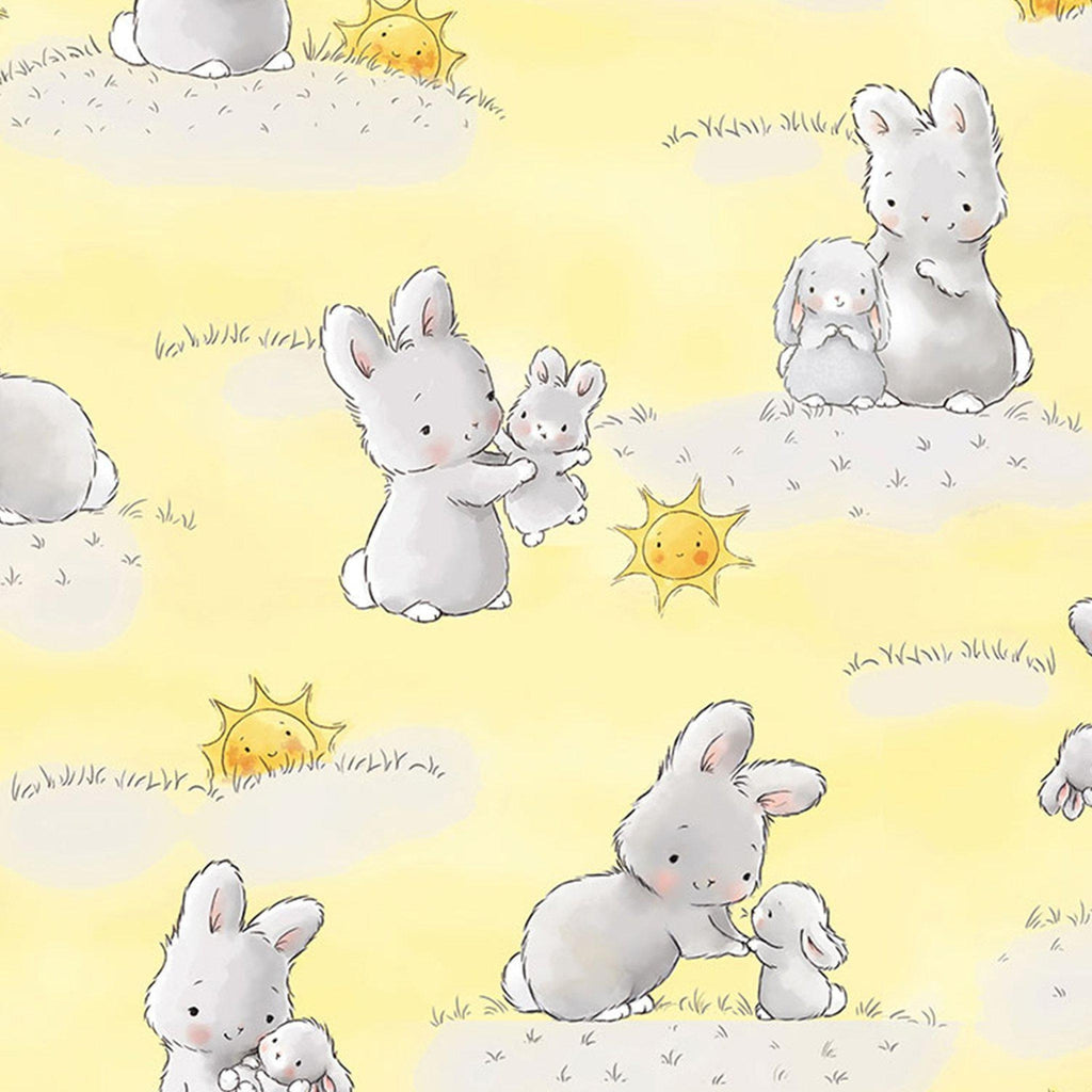 Fabric - Bloom Little Star Collection - Bunnies & Suns - 1/4 yard