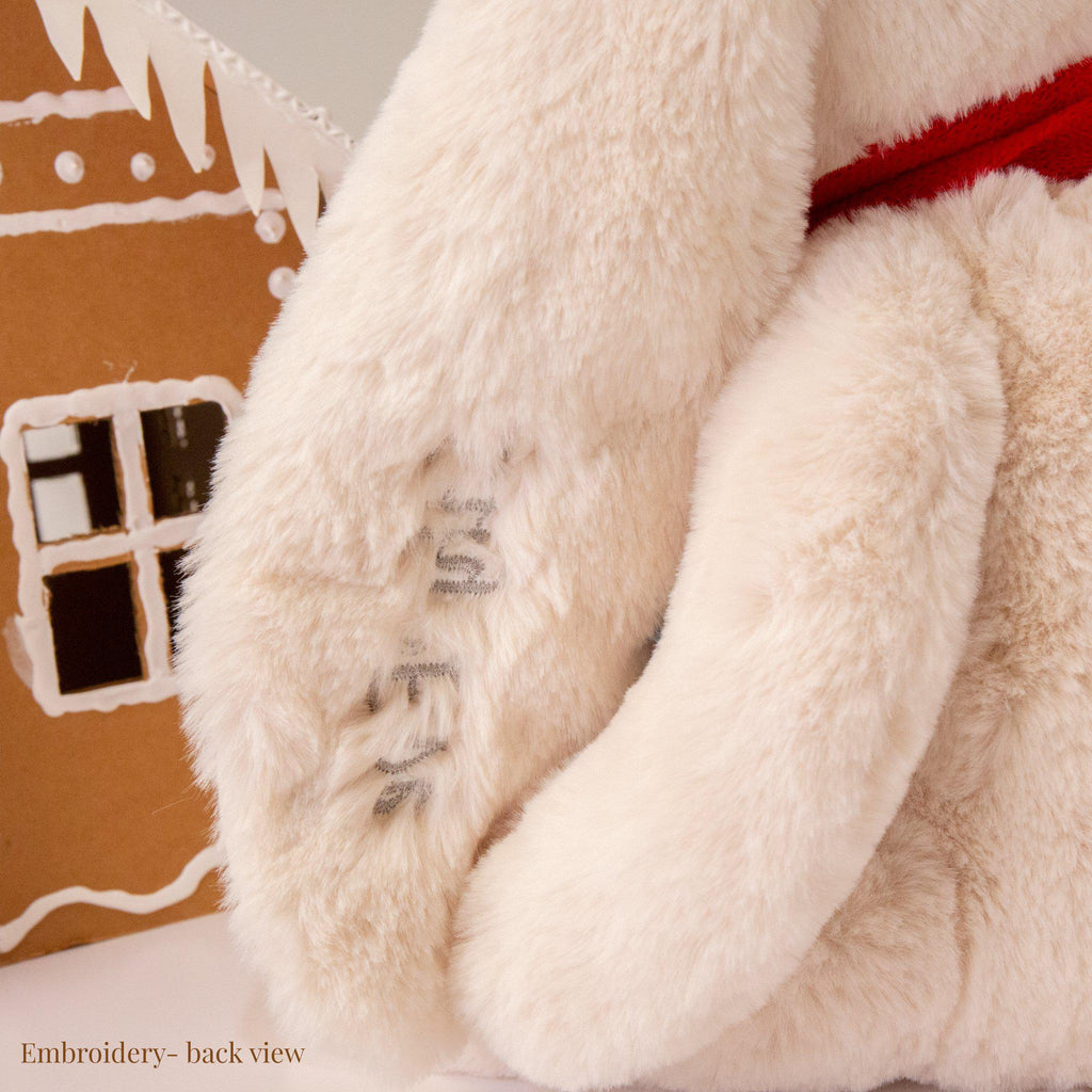 "RETIRED - Limited Edition - Holiday Sweet Nibble Cream 16"" Bunny-Holiday Plush-SKU: - Bunnies By The Bay"