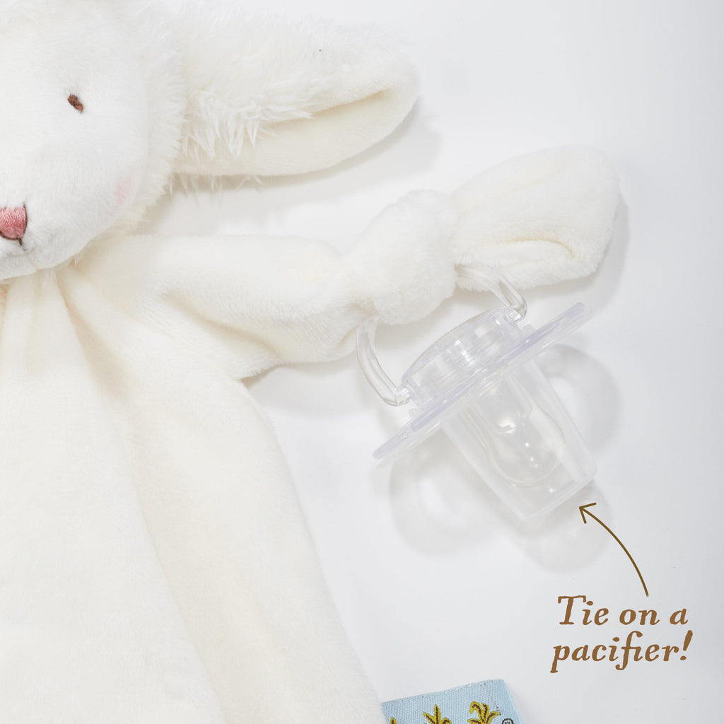 Pacifier Holder Hand Loop - Blossom Bunny Knotty Friend - Bunnies By The Bay