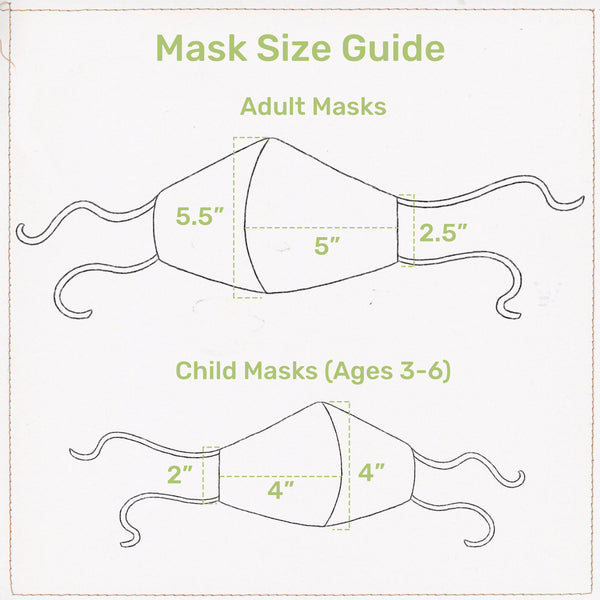 Baa-bs the Lamb Cloth Face Mask for Adults and Kids-Good Friends Farm-SKU: - Bunnies By The Bay