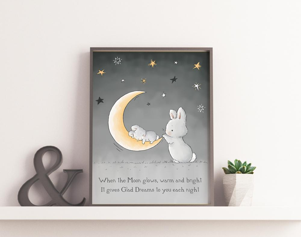 Image of Digital Art: Give Glad Dreams-Digital Art-Bunnies By The Bay-bbtbay