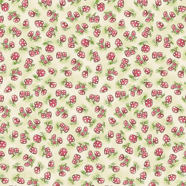 Image of Fabric - Camp Cricket Collection - Mini Mushrooms - 1/4 yard-Fabric-Bunnies By The Bay-bbtbay
