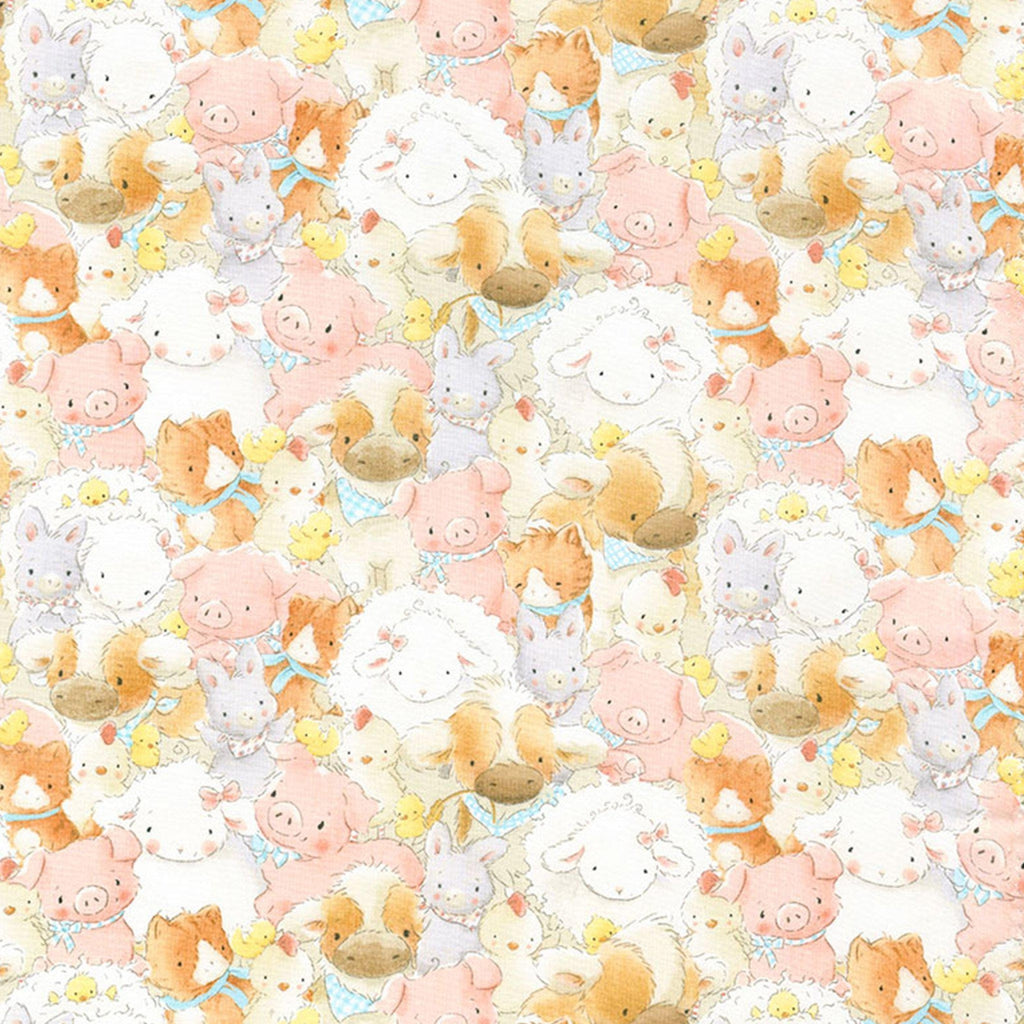 Fabric - Good Friends Farm - Packed Farm Animals - 1/4 yard