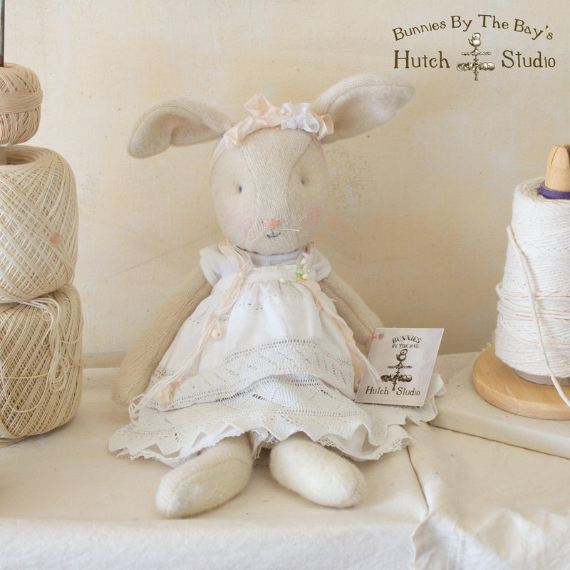 Hutch Studio - Little Pearl - One Of A Kind Cashmere Bunny-HutchStudio Original-Bunnies By The Bay