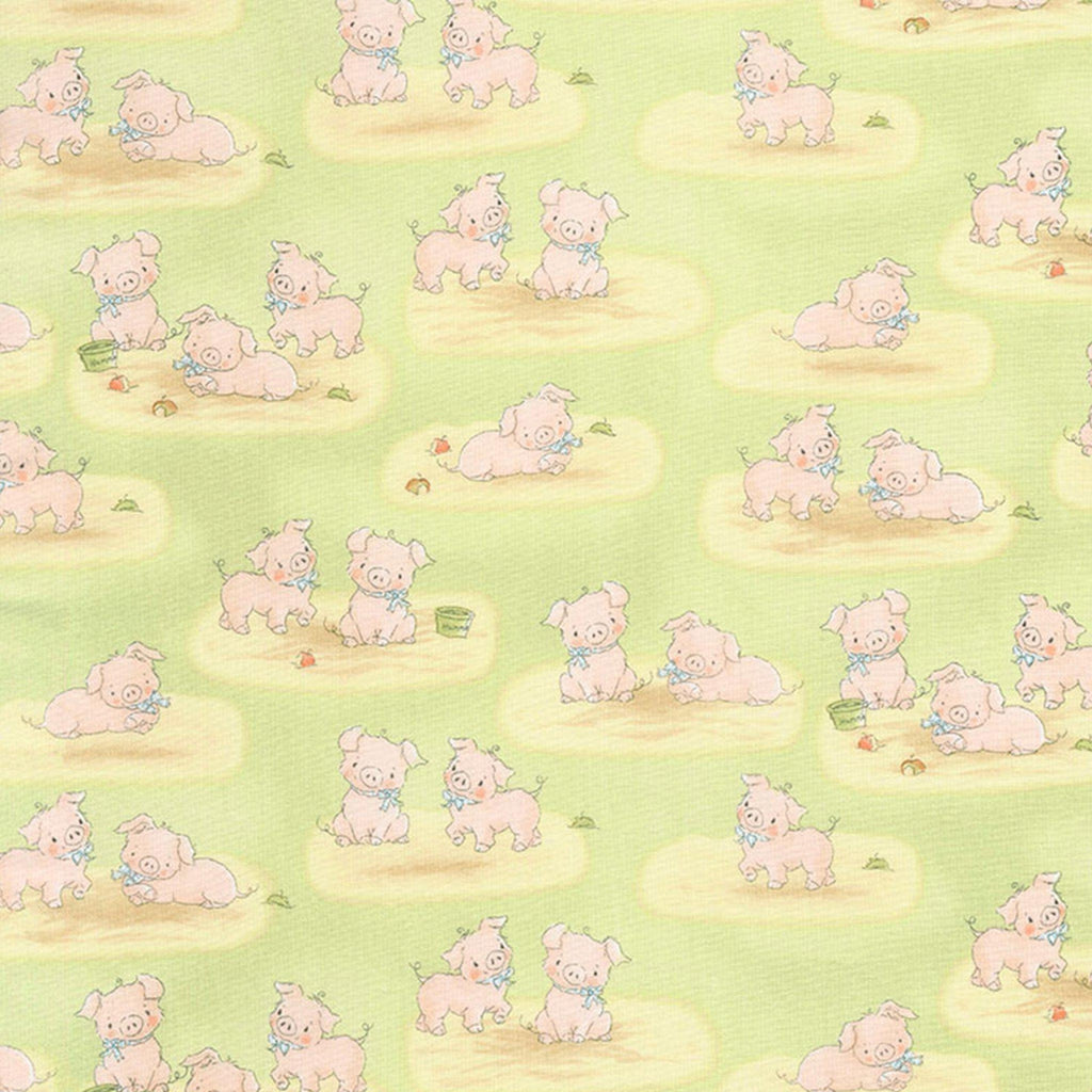 Fabric - Good Friends Farm - Farm Pigs - 1/4 yd