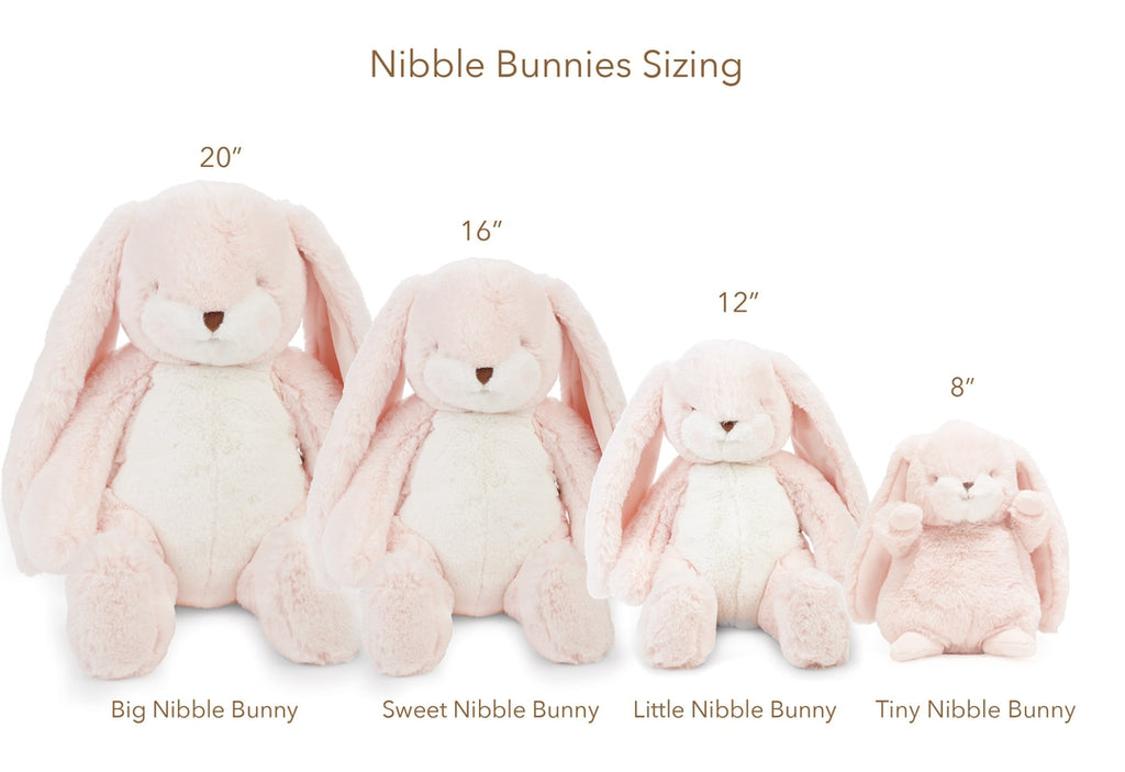 "Tiny Nibble 8"" Bunny - Pink-Stuffed Bunny-Bunnies By The Bay"