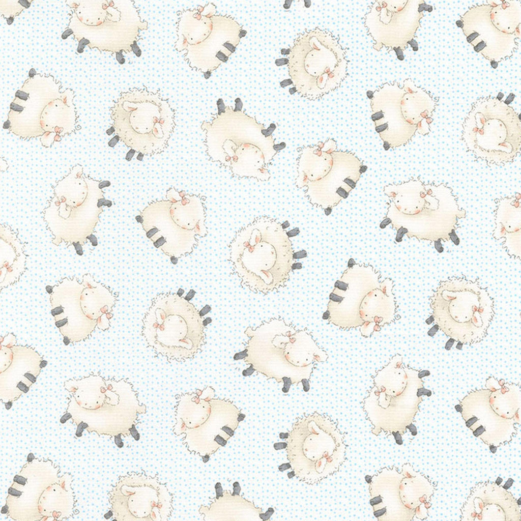 Fabric - Good Friends Farm Collection -  Sheep - 1/4 yd