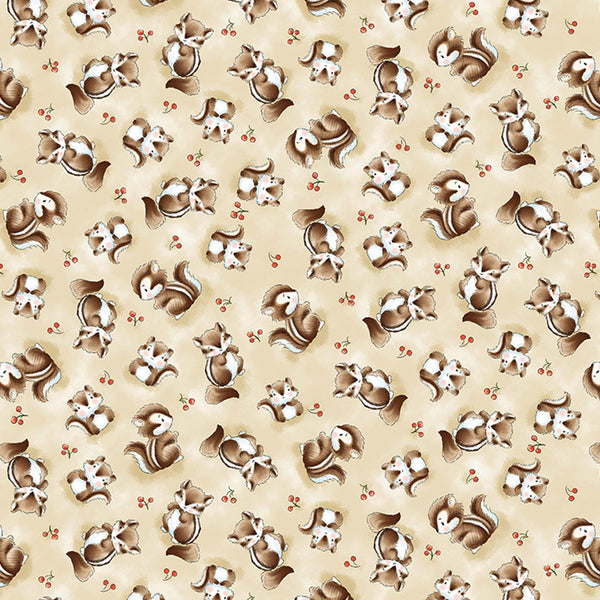 Image of Fabric - Camp Cricket Collection - Tossed Skunks - 1/4 yard-Fabric-Bunnies By The Bay-bbtbay