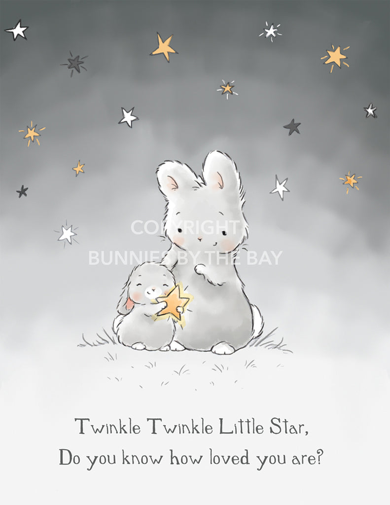 [product-color] Digital Art: Twinkle Twinkle Little Star a Digital Art from Bunnies By The Bay: -