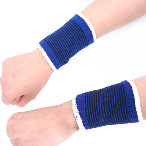 1 pair Wristbands Sport Sweatband Hand Band Sweat Wrist Support Brace Wraps Guards For Gym Volleyball Basketball Teennis