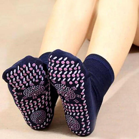 Tomalin Hot Moxibustion Self-Heating Health Care Therapy Comfortable And Breathable Massager Winter Warm Foot Care Socks