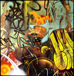 Original Painting - Risk and Bates Collaboration - Risk Rock Shop
