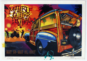 Malibu Guitar Festival Print - ONLY TWO LEFT! - Risk Rock Shop