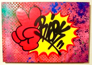 "RISK ""Peace"" - HAND SPRAYED ORIGINAL! - Risk Rock Shop"