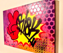 "Load image into Gallery viewer, RISK ""Peace"" - HAND SPRAYED ORIGINAL! - Risk Rock Shop"
