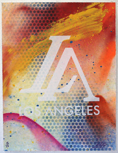 "LA ""Dodger"" Prints - Multi Colored - Risk Rock Shop"