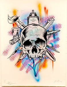 Risk & Taz Together! Hand Embellished Collab! - RISK