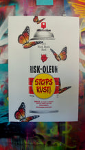"Load image into Gallery viewer, RISK ""Riskoleum Butterflies"" Extra Large Silkscreen with Hand Painted Butterflies! - RISK"