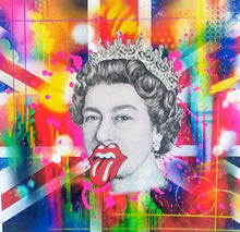 "Load image into Gallery viewer, RISK ""Rolling Risky Queen"" - Hand Embellished by RISK"" - Risk Rock Shop"