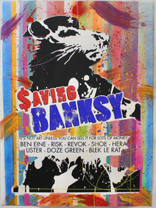 Saving Banksy Prints ONLY SEVEN LEFT! - Risk Rock Shop