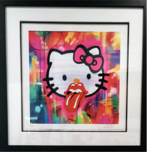 "RISK ""Risky Kitty"" Hand Embellished Print - ONE AVAILABLE! - RISK"